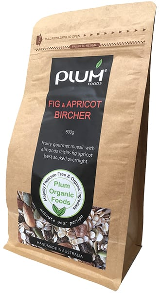 Fig and Apricot Bircher Muesli by Plum Foods