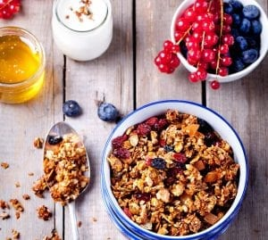 Cranberry Crunch with Blueberries