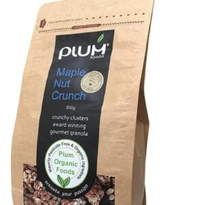 Maple Nut Crunch Granola 500G Crunchy Clusters - Plum Foods
