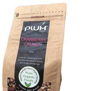 Cranberry Crunch Organic Granola 500g - Plum Organic Foods