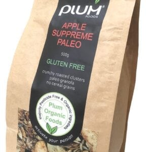 Apple Supreme Paleo - GLUTEN FREE Granola 500g - Plum Foods