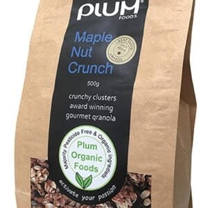 Maple Nut Crunch Granola 1kg Crunchy Clusters - Plum Foods