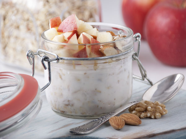 Jar of bircher muesli